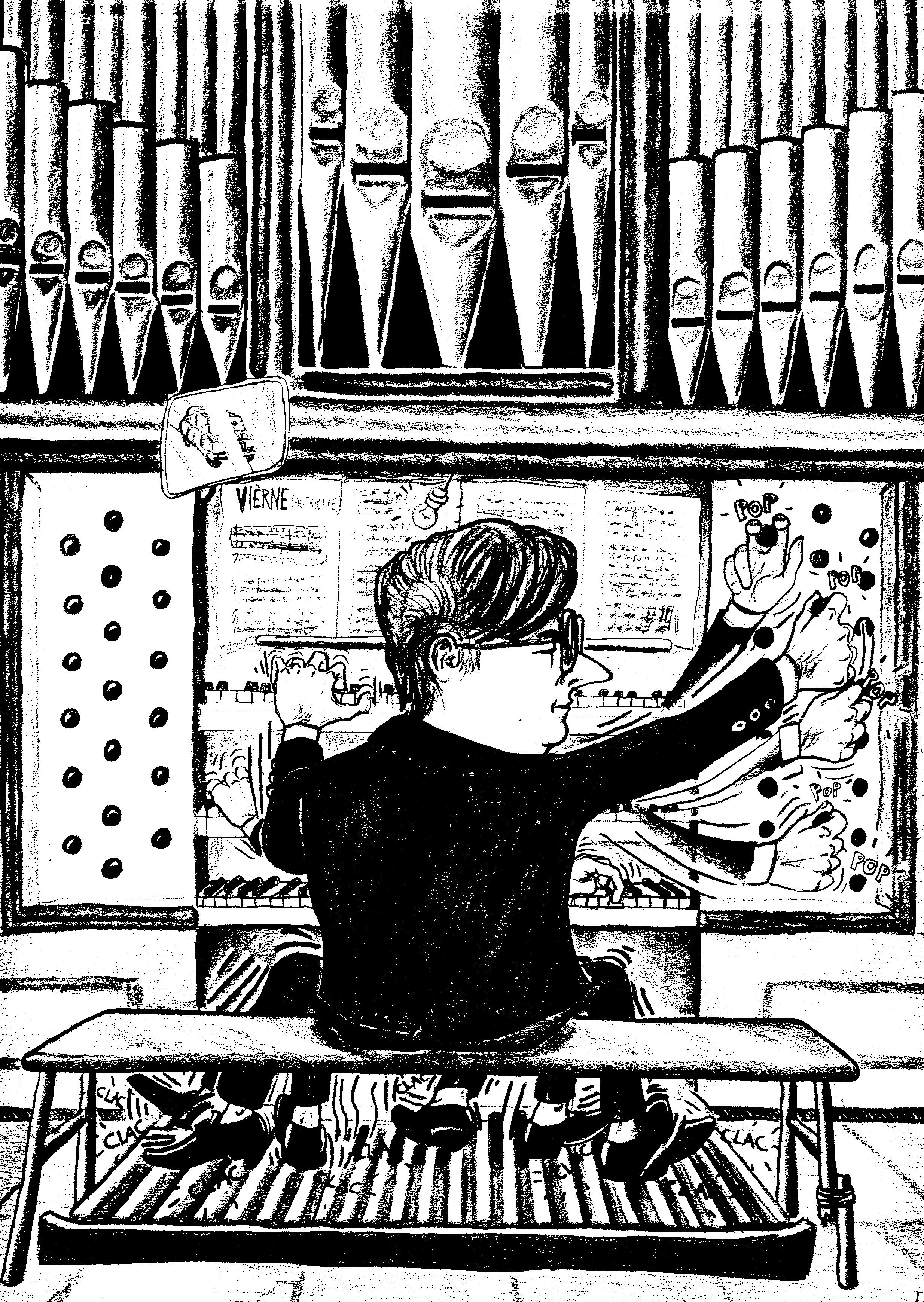 Robert Michel caricature